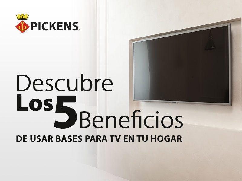 Descubre los 5 beneficios de usar bases para TV en tu hogar.
